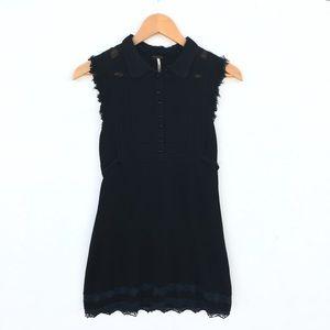 Free People Mini Black Dress Size S